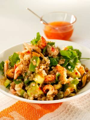 Skalldyrsalat med chili og hvitløk
