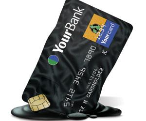 Smeltet kredittkort