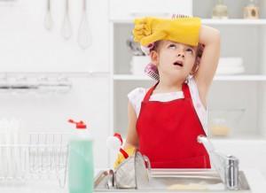 Det må vaskes for å holde hygienen på topp. Ikke alltid like moro...
