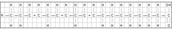 Illustrasjon: Den kjemiske oppbygningen av omega- 3-fettsyre