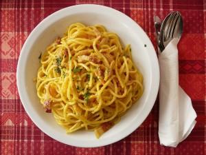 Pasta og spaghetti er typisk italiensk